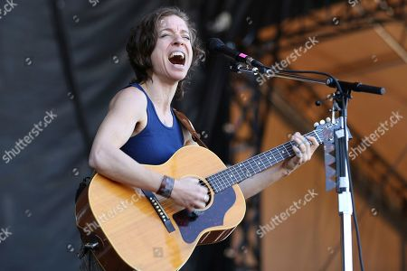 Artist Ani DiFranco performs on the Bud Light Stage of the 2017 Beale Street Music Festival on in Memphis, Tenn