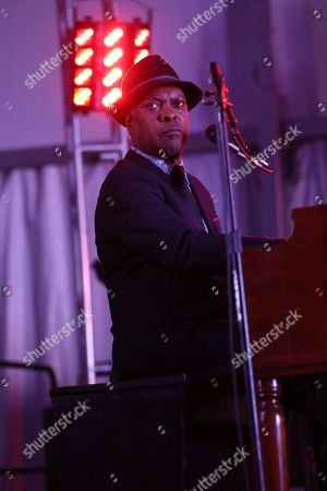 Artist Booker T. Jones performs in the Orion Blues Tent at the 2017 Beale Street Music Festival on in Memphis, Tenn