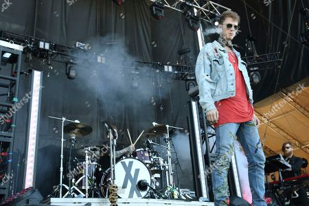 Artist Machine Gun Kelly performs on the FedEx Stage of the 2017 Beale Street Music Festival on in Memphis, Tenn