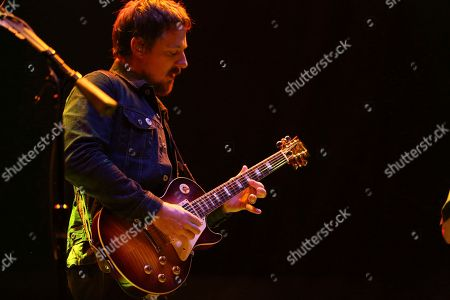 Artist Sturgill Simpson performs on the Bud Light Stage of the 2017 Beale Street Music Festival on in Memphis, Tenn