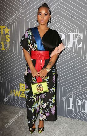 Tammy Rivera arrives at the BET Chairman and CEO Debra Lee's PRE, a BET Awards Dinner for the 17th Annual BET Awards at The London West Hollywood at Beverly Hills, in West Hollywood, Calif