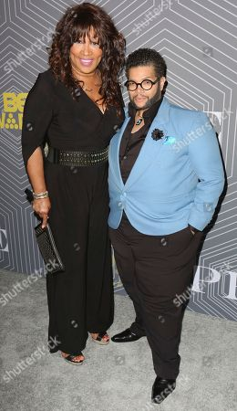Kym Whitley, left, and Derrick Rutledge arrive at the BET Chairman and CEO Debra Lee's PRE, a BET Awards Dinner for the 17th Annual BET Awards at The London West Hollywood at Beverly Hills, in West Hollywood, Calif