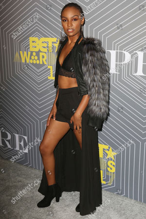 Sierra McClain arrives at the BET Chairman and CEO Debra Lee's PRE, a BET Awards Dinner for the 17th Annual BET Awards at The London West Hollywood at Beverly Hills, in West Hollywood, Calif