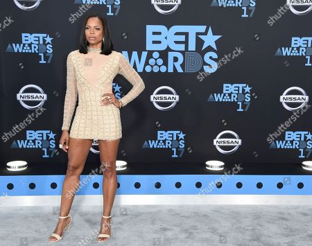 Stock Image of LaTina Webb arrives at the BET Awards at the Microsoft Theater, in Los Angeles