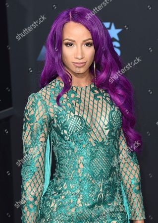 Sasha Banks arrives at the BET Awards at the Microsoft Theater, in Los Angeles