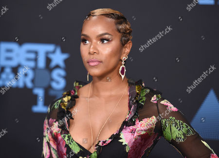 LeToya Luckett arrives at the BET Awards at the Microsoft Theater, in Los Angeles