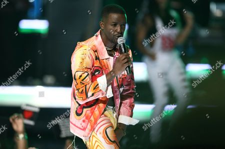 Elijah Kelley, from the cast of The New Edition Story, performs at the BET Awards at the Microsoft Theater, in Los Angeles