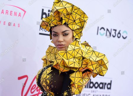 Dencia arrives at the Billboard Music Awards at the T-Mobile Arena, in Las Vegas