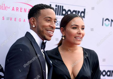 Ludacris, left, and Eudoxie Mbouguiengue arrive at the Billboard Music Awards at the T-Mobile Arena, in Las Vegas