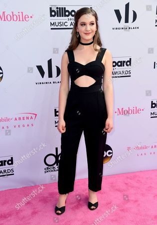 Stock Image of Whitney Woerz arrives at the Billboard Music Awards at the T-Mobile Arena, in Las Vegas