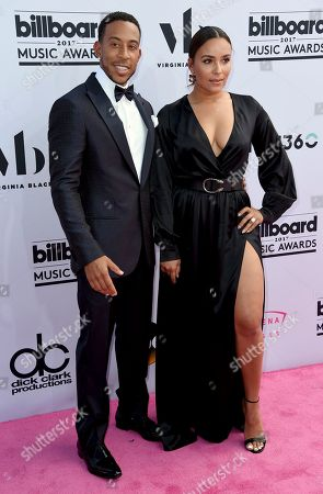 Ludacris, left, and Eudoxie Mbouguiengue arrives at the Billboard Music Awards at the T-Mobile Arena, in Las Vegas