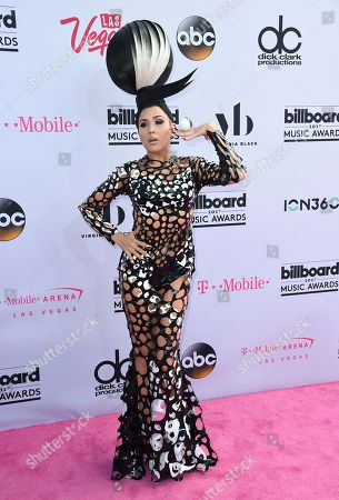 Z LaLa arrives at the Billboard Music Awards at the T-Mobile Arena, in Las Vegas