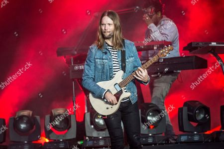 James Valentine of Maroon 5 performs at BottleRock Napa Valley Music Festival at Napa Valley Expo, in Napa, Calif