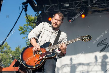 Brian Aubert of Silversun Pickups performs at BottleRock Napa Valley Music Festival at Napa Valley Expo, in Napa, Calif