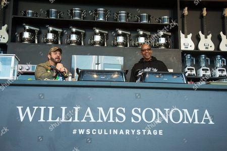 Adam Richman, left, and Warren G seen at BottleRock Napa Valley Music Festival at Napa Valley Expo, in Napa, Calif