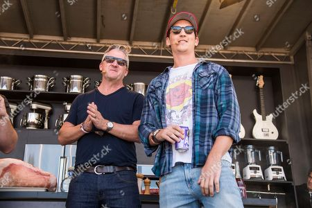 Stock Image of Tim Love, left, and Miles Teller seen at BottleRock Napa Valley Music Festival at Napa Valley Expo, in Napa, Calif