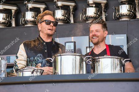 Matt Sorum, left Richard Blais seen at BottleRock Napa Valley Music Festival at Napa Valley Expo, in Napa, Calif