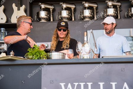 Tim Love, from left, Jared Watson and Dustin Bushnell of the Dirty Heads seen at BottleRock Napa Valley Music Festival at Napa Valley Expo, in Napa, Calif