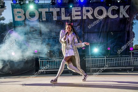 AlunaGeorge performs at BottleRock Napa Valley Music Festival at Napa Valley Expo, in Napa, Calif