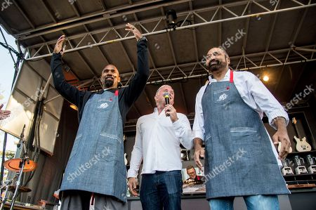 Charles Woodson, left, and Franco Harris seen at BottleRock Napa Valley Music Festival at Napa Valley Expo, in Napa, Calif