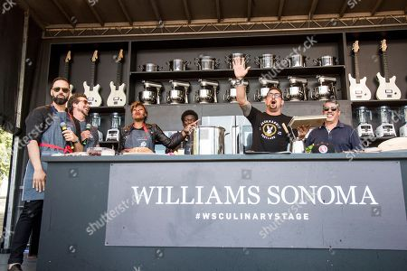 James King, from left, Joseph Karnes, Noelle Scaggs, Charles Bradley, Chris Cosentino, and Gary Dell'Abate seen at BottleRock Napa Valley Music Festival at Napa Valley Expo, in Napa, Calif