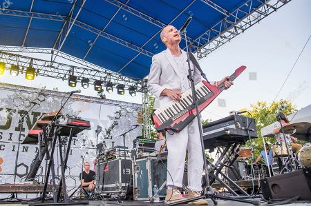 Paul Meany of Mutemath performs at the Bunbury Music Festival, in Cincinnati