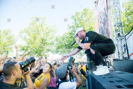 Mike Stud performs at the Bunbury Music Festival, in Cincinnati