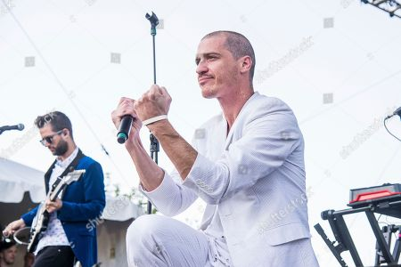 Stock Image of Paul Meany of Mutemath performs at the Bunbury Music Festival, in Cincinnati