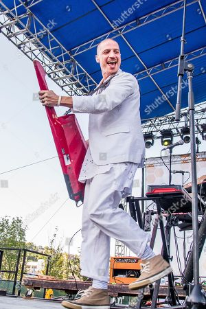 Stock Photo of Paul Meany of Mutemath performs at the Bunbury Music Festival, in Cincinnati
