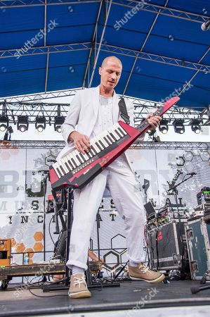 Stock Picture of Paul Meany of Mutemath performs at the Bunbury Music Festival, in Cincinnati