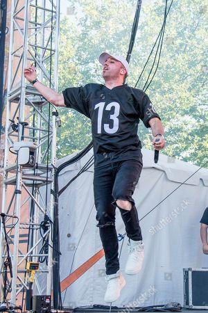 Stock Photo of Mike Stud performs at the Bunbury Music Festival, in Cincinnati