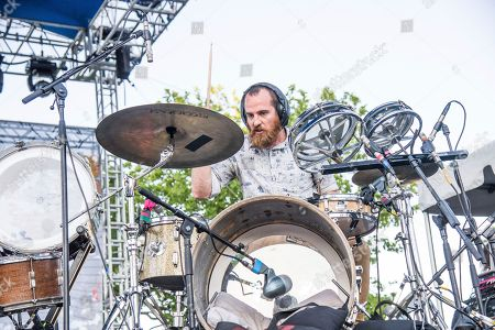 Darren King of Mutemath performs at the Bunbury Music Festival, in Cincinnati