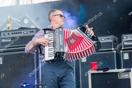 Matt Hensley of Flogging Molly performs at the Bunbury Music Festival, in Cincinnati