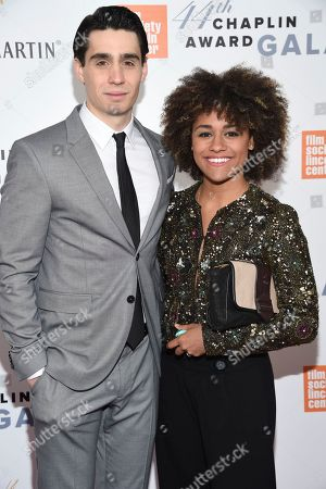 Stock Picture of Actors Bobby Conte Thornton, left, and Ariana DeBose attend the Film Society of Lincoln Center's 44th Annual Chaplin Award Gala honoring Robert De Niro at the David H. Koch Theater, in New York