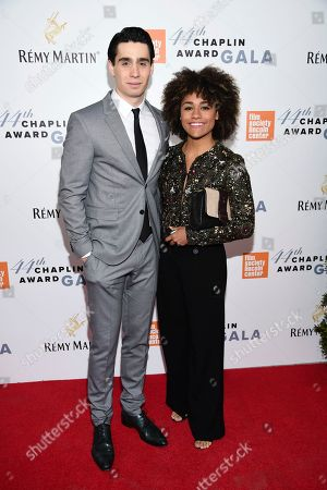 Actors Bobby Conte Thornton, left, and Ariana DeBose attend the Film Society of Lincoln Center's 44th Annual Chaplin Award Gala honoring Robert De Niro at the David H. Koch Theater, in New York