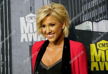Savannah Chrisley arrives at the CMT Music Awards at Music City Center, in Nashville, Tenn
