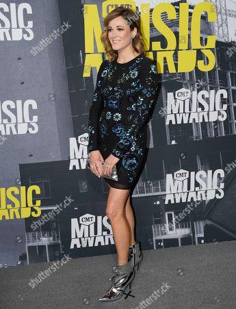 Jillian Jacqueline arrives at the CMT Music Awards at Music City Center, in Nashville, Tenn