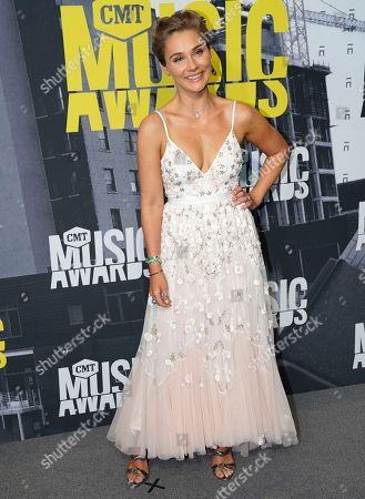 Clare Bowen arrives at the CMT Music Awards at Music City Center, in Nashville, Tenn