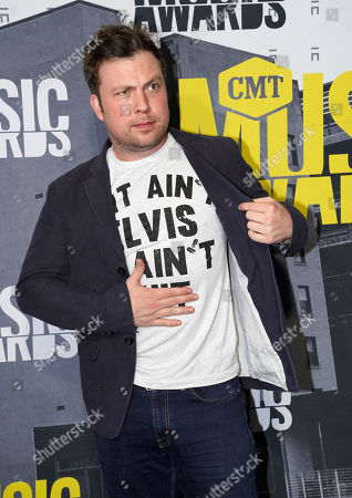 Travis Nicholson arrives at the CMT Music Awards at Music City Center, in Nashville, Tenn