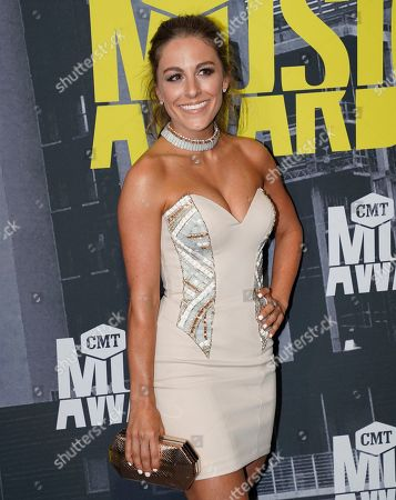 Tara Thompson arrives at the CMT Music Awards at Music City Center, in Nashville, Tenn