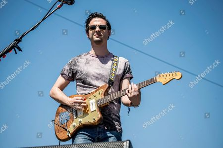 Mike DeAngelis of the Arkells performs at Coachella Music & Arts Festival at the Empire Polo Club, in Indio, Calif