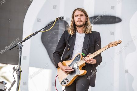 Andrew Wessen of Grouplove performs at Coachella Music & Arts Festival at the Empire Polo Club, in Indio, Calif