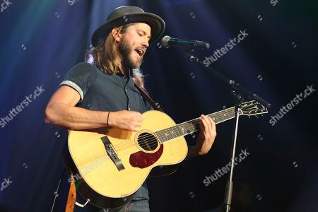 Artist Trevor Terndrup of the band Moon Taxi performs at the Dylan Fest at Ryman Auditorium on in Nashville, Tenn
