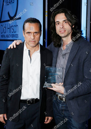 Maurice Benard and Honoree Paul Dalio seen at the 2017 Erasing the Stigma Leadership Awards on in Beverly Hills, CA