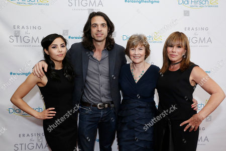 Honoree Anna Akana, Honoree Paul Dalio, Dr. Kita S. Curry - President/CEO Didi Hirsch Mental Health Services and host Melissa Rivers seen at the 2017 Erasing the Stigma Leadership Awards on in Beverly Hills, CA