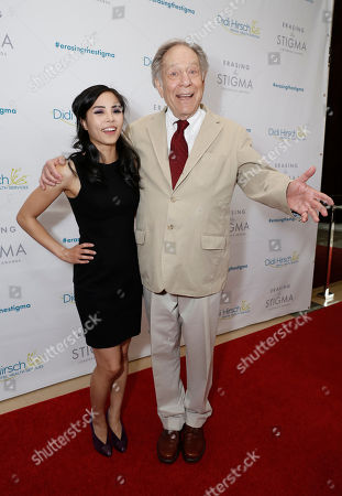 Honoree Anna Akana and George Segal seen at the 2017 Erasing the Stigma Leadership Awards on in Beverly Hills, CA