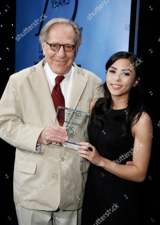 George Segal and Honoree Anna Akana seen at the 2017 Erasing the Stigma Leadership Awards on in Beverly Hills, CA