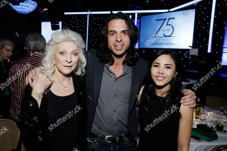 Honoree Judy Collins, Honoree Paul Dalio and Honoree Anna Akana seen at the 2017 Erasing the Stigma Leadership Awards on in Beverly Hills, CA
