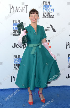Paula Roman arrives at the Film Independent Spirit Awards, in Santa Monica, Calif