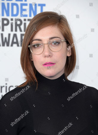 Stock Picture of Anna Rose Holmer arrives at the Film Independent Spirit Awards, in Santa Monica, Calif